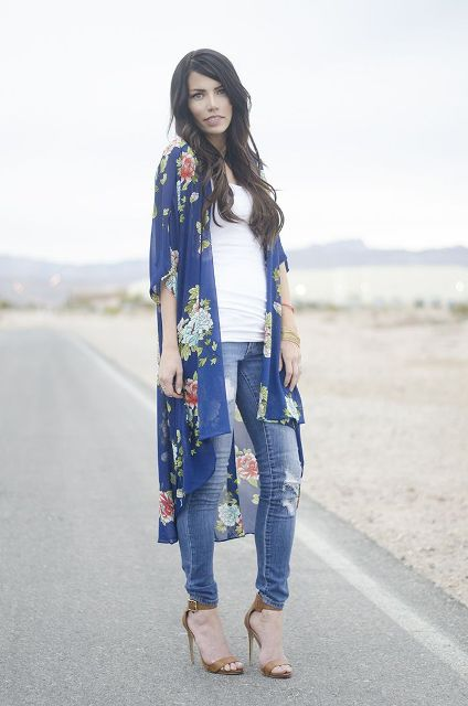 Picture Of Cool Outfits With A Kimono Jacket For This Summer 4