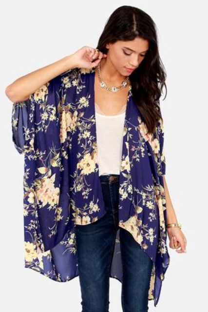Picture Of Cool Outfits With A Kimono Jacket For This Summer 9