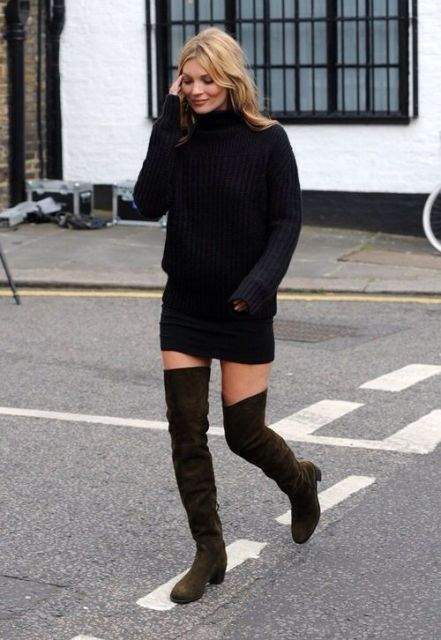 Picture Of Fall Outfits With Thigh High Boots To Try This Season 18