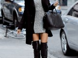 20 Fall Outfits With Thigh-High Boots To Try This Season19