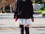 20 Fall Outfits With Thigh-High Boots To Try This Season2