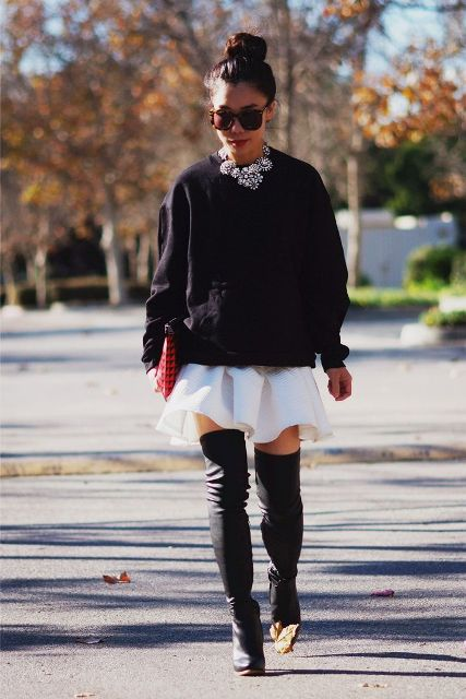 20 Sexy Fall Outfits With Thigh-High Boots To Try This Season ...