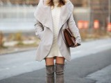 20 Fall Outfits With Thigh-High Boots To Try This Season20