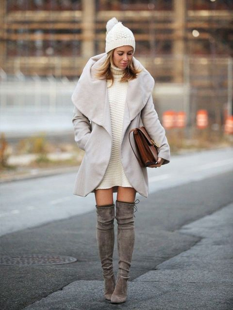20 Sexy Fall Outfits With Thigh-High Boots To Try This Season
