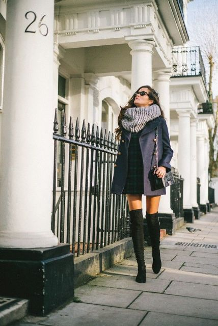 Sexy Fall Outfits With Thigh High Boots To Try This Season