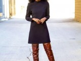 20 Fall Outfits With Thigh-High Boots To Try This Season6