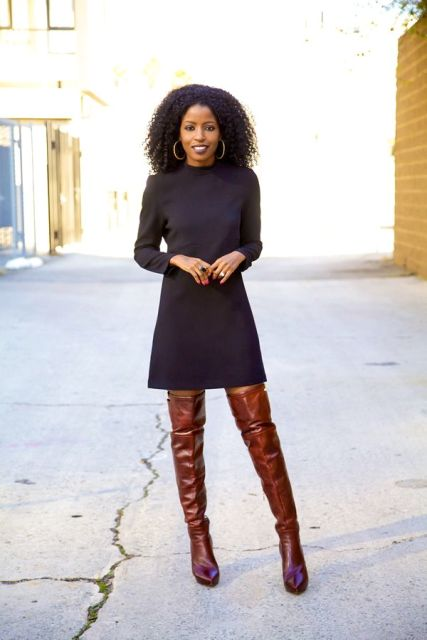 20 Sexy Fall Outfits With Thigh High Boots To Try This
