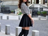 20 Fall Outfits With Thigh-High Boots To Try This Season9