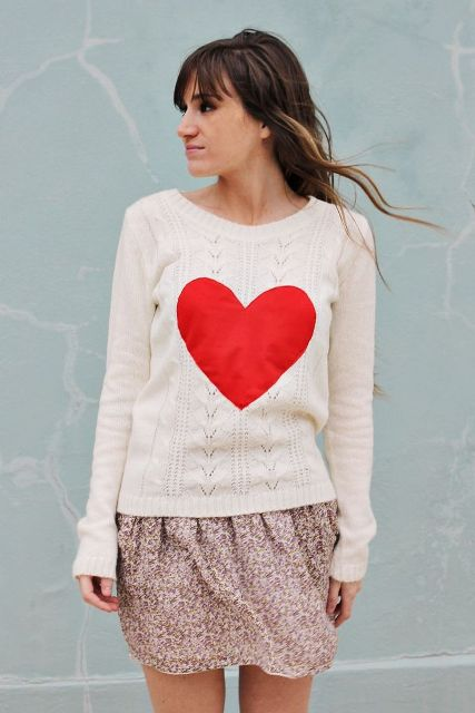 Ideas Of Heart Print Shirts For Valentine's Day