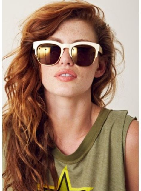 Trendy White Framed Sunglasses For This Summer