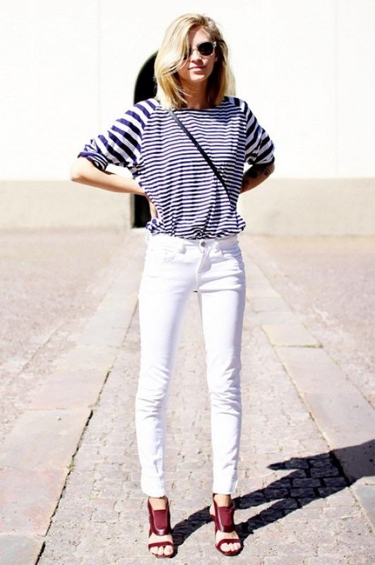 Picture Of awesome ways to wear white jeans this summer  1