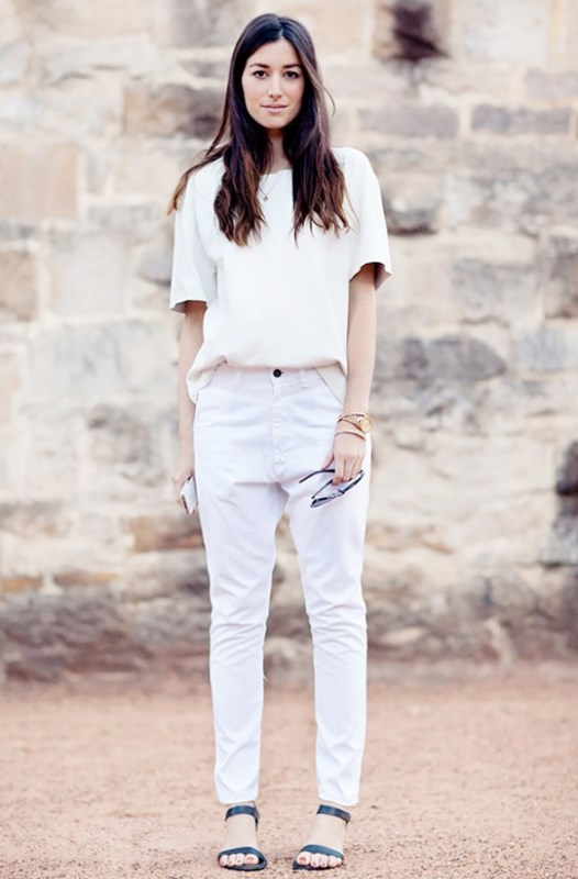 Picture Of awesome ways to wear white jeans this summer  13