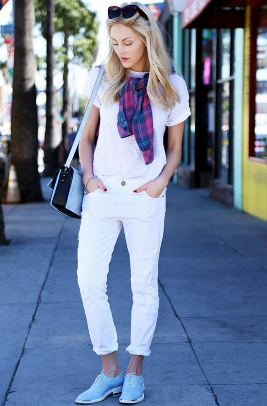 Picture Of awesome ways to wear white jeans this summer  19