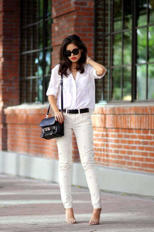 Picture Of awesome ways to wear white jeans this summer  20
