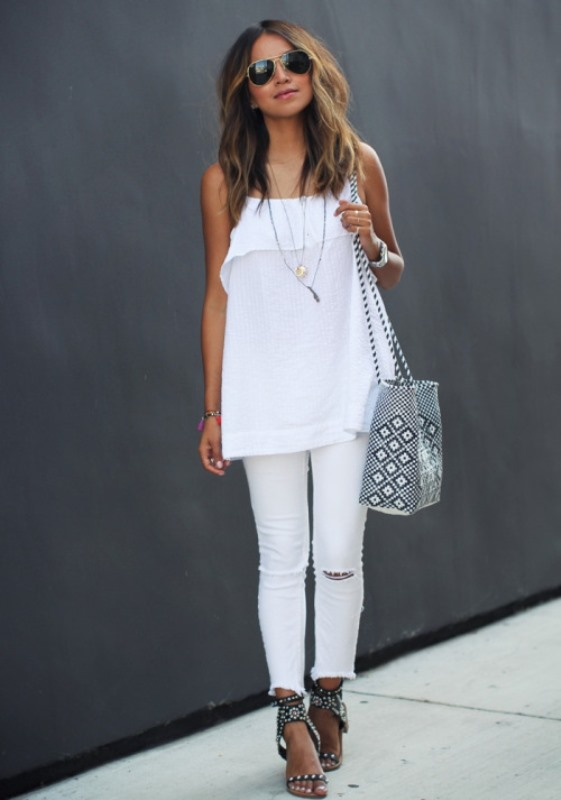 Picture Of awesome ways to wear white jeans this summer  3