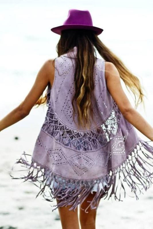 Picture Of cool fringe cover ups to wear to the beach  19