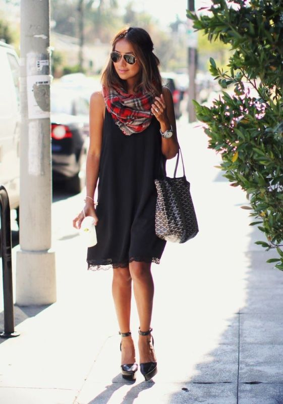 Picture Of cool ways to rock dark colors in the summer  13