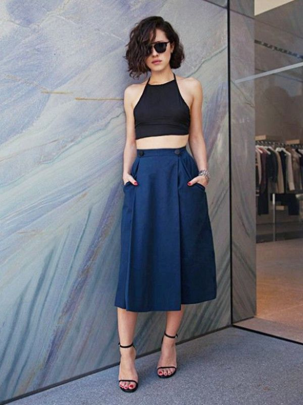 Picture Of cool ways to rock dark colors in the summer  17