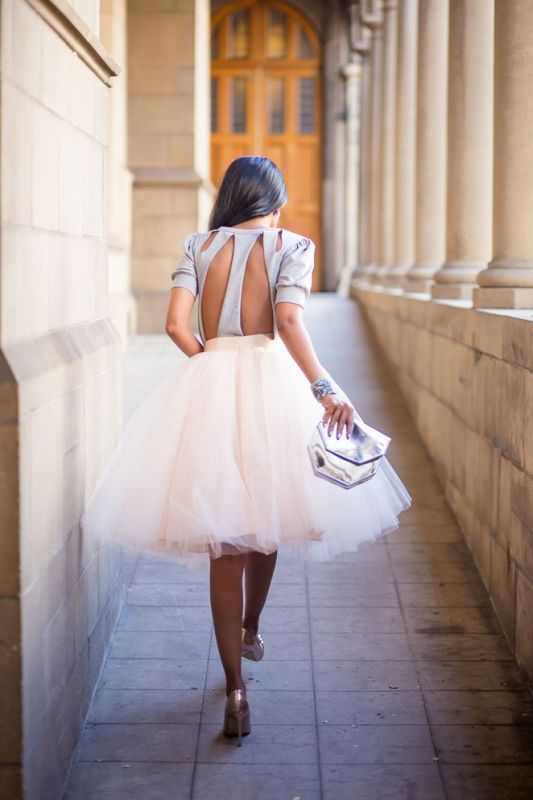 Picture Of fab ways to wear a feminine tulle skirt  11