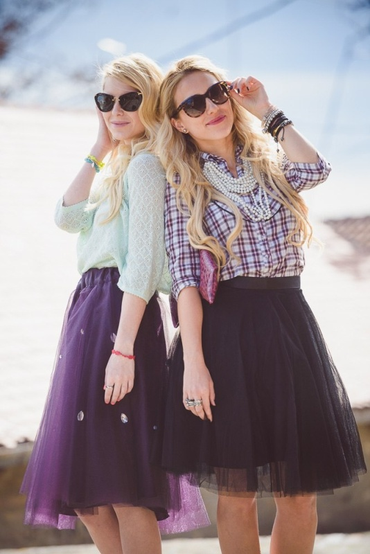 Picture Of fab ways to wear a feminine tulle skirt  13