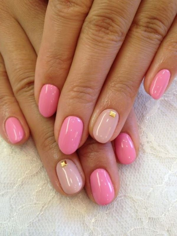 Picture Of prettiest ways to wear pink nails now  1