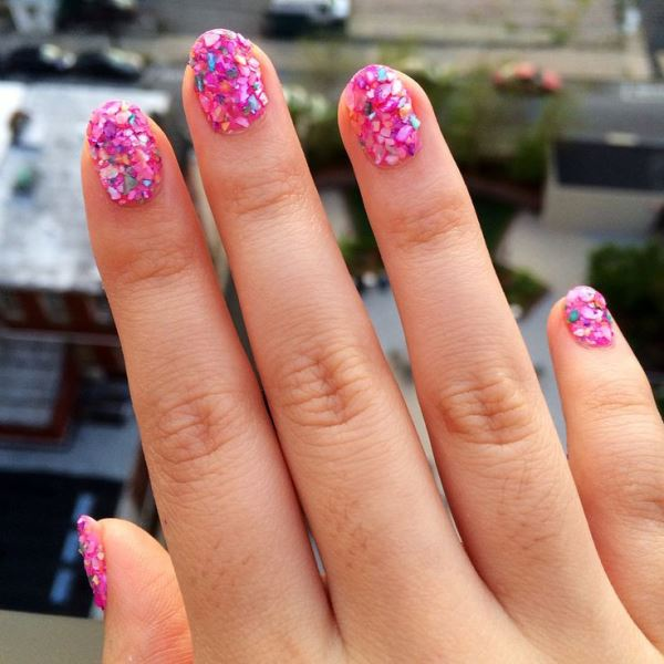 Picture Of prettiest ways to wear pink nails now  12