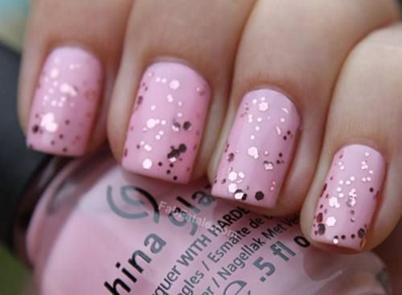 Picture Of prettiest ways to wear pink nails now  13
