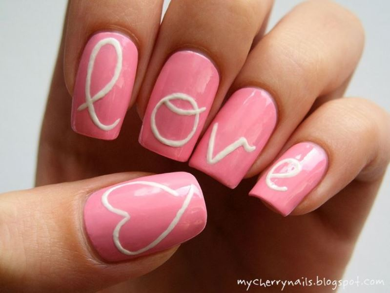 Picture Of prettiest ways to wear pink nails now  15
