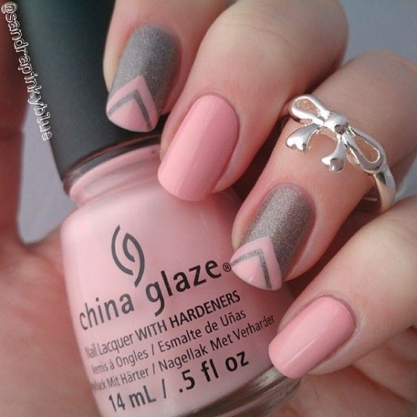 Picture Of prettiest ways to wear pink nails now  2