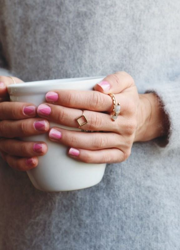 Picture Of prettiest ways to wear pink nails now  20