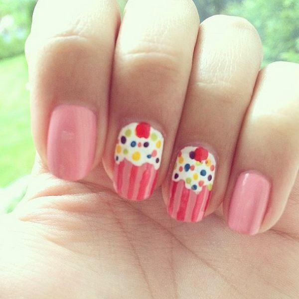Picture Of prettiest ways to wear pink nails now  4