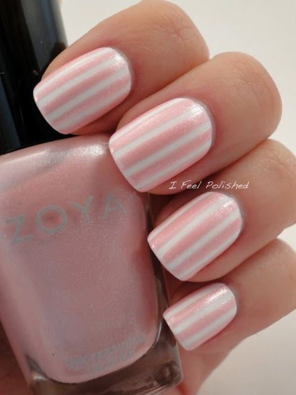 Picture Of prettiest ways to wear pink nails now  5