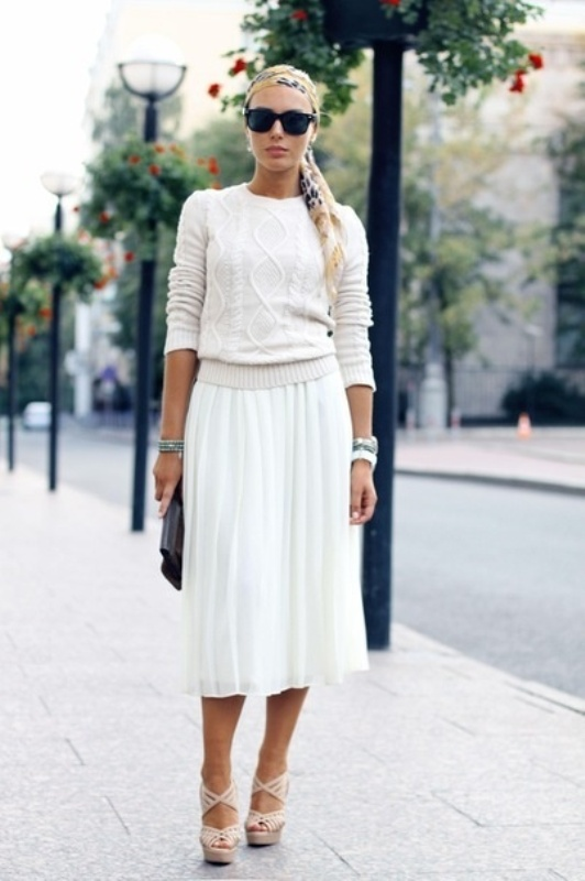 Picture Of stunning ways to rock white on white  20