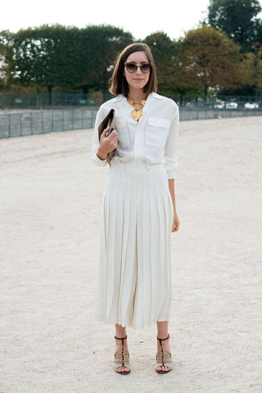 Picture Of stunning ways to rock white on white  6
