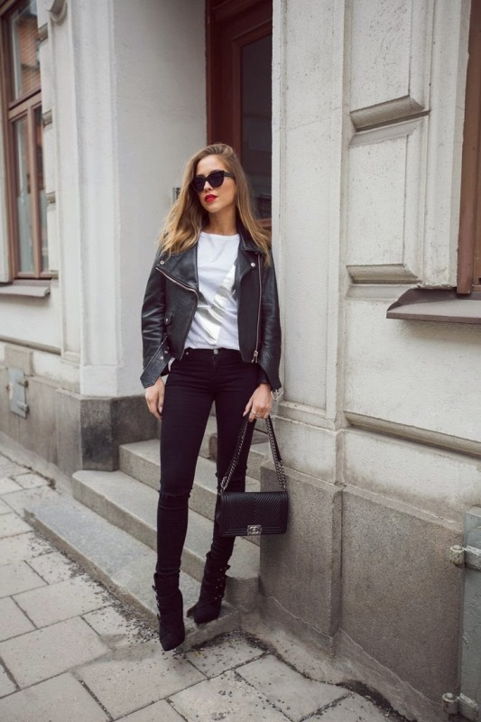 Picture Of stylish and fresh ways to wear a motorcycle jacket  10