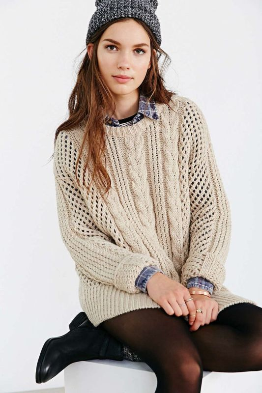 Picture Of stylish cable knit sweaters to warm up this winter  11