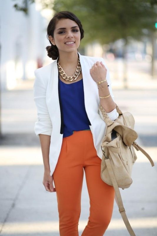 Picture Of stylish picks to inspire you to wear orange at work  1