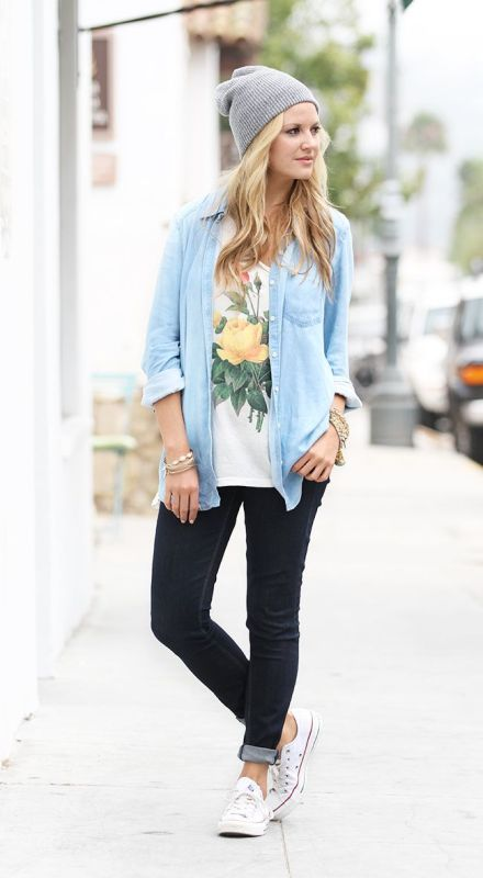 Picture Of ways to style chambray this summer  10