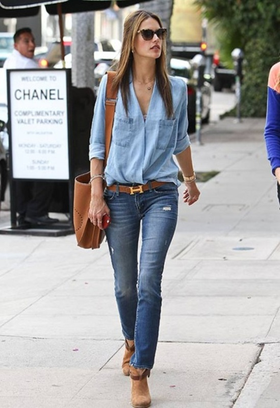 Picture Of ways to style chambray this summer  19