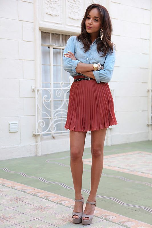 Picture Of ways to style chambray this summer  9