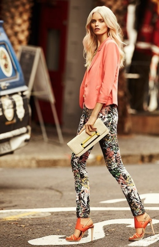 Picture Of wonderful ways to wear printed trousers this spring  14