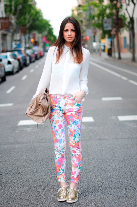 Picture Of wonderful ways to wear printed trousers this spring  2