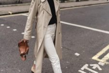 a neutral 90s inspired midi trench is a cool idea for spring, 90s fashion is a trendy idea