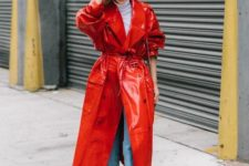 a bold trench coat spring outfit