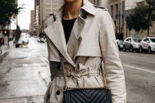 a short trench coat look