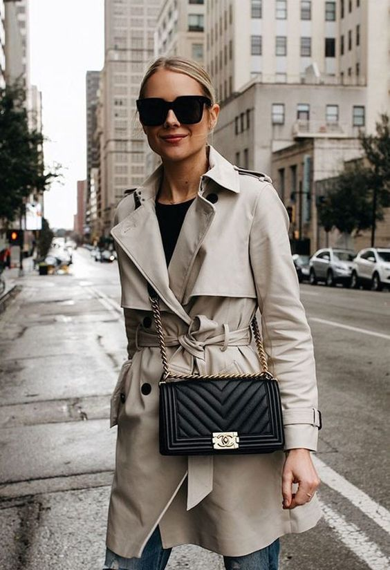 a short trench coat look