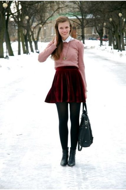 Awesome Velvet Skirt Ideas For Every Girl