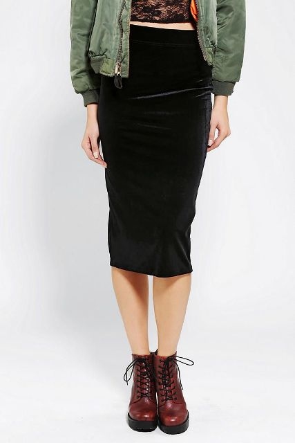 Picture Of Awesome Velvet Skirt Ideas For Every Girl 5