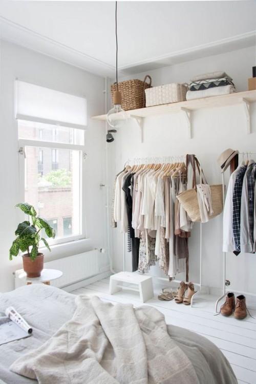 17 Simple And Stylish Minimalist Closet Ideas