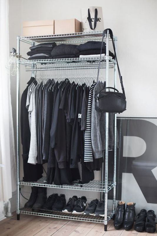 Picture Of simple and stylish minimalist closet ideas  5